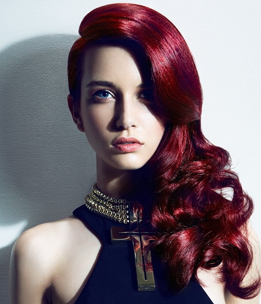 2015-asymmetric-dark-red-waves-hairstyle