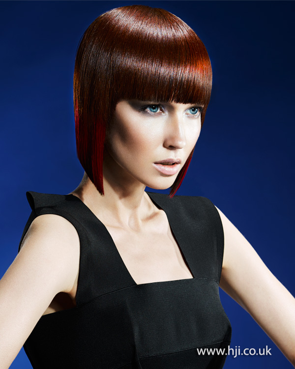 2015-red-bob-hairstyle-with-colour-panel-fringe